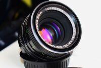 RARE BLACK MC Carl Zeiss Jena Pancolar AUTO Germany lens 50mm f/1.8 M42 MINT