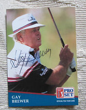 RARE GAY BREWER AUTO SIGNED TRADING CARD PGA TOUR GOLFER BLOWOUT SALE