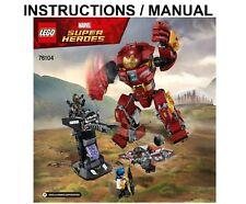 LEGO Super Heroes 76104 The Hulkbuster Smash-up INSTRUCTIONS ONLY