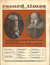 RECORD TIMES NEWSPAPER 1964 04 APRIL walton/poulenc/menuhin/la boheme/goossens