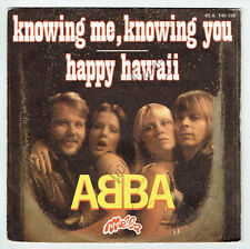 """ABBA 45T Disque SP 7"""" KNOWING ME KNOWING YOU - HAPPY HAWAII - MELBA 140188 RARE"""