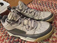 Nike 654975-006 Air Jordan Flight 9.5 GS Wolf Grey/White-Dark Grey Sz 6.5Y NICE!