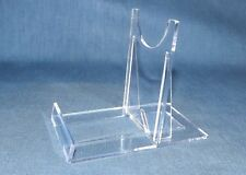 "Adjustable Display Stand Twist Fix Clear Acrylic/Plastic Large 12"" dia item."