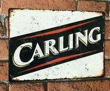 CARLING Lager Beer Large Vintage Metal Sign Bar Pub Man Cave Shed Garage