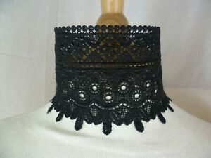 Black Lace Choker Victorian Necklace Medieval Pagan Steampunk Gothic Wedding