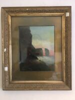 Antique vintage Victorian era framed signed original oil painting S Shaw
