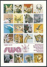 SWA - Präsentationsmappe Wildlebende Säugetiere Satz 1993 gest. Mi.Nr. 476-492