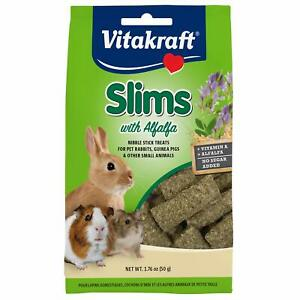 Vitakraft Slims with Alfalfa Rabbit, Guinea Pig Nibble Stick Treat, 1.76 oz