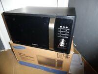 Samsung MG23F302TAK Mikrowelle  Mikrowellengerät 800W Grill 1000W schwarz, 23L