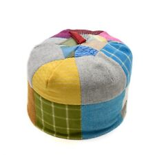 Handmade British Wool Bean Bag, Footstool, Seat