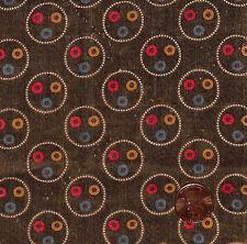 Antique 1880 Brown Circles Fabric