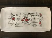 Disney Sketchbook Mickey Mouse Christmas Holiday Rectangular Serving Tray New