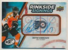 2017-18 Upper Deck Ice Rinkside Signings #RSWS Wayne Simmonds C Auto