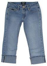Squeeze Junior Womens Jeans Cropped Capri Cuffed Stretch Denim Size 3 4 27x20