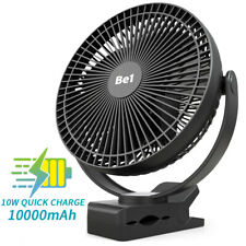 OPOLAR 10000mAh 8 inch USB&Rechargeable Clip on Fan Personal Table Desk Cool Fan