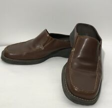 Bass Tiona Women's Brown Leather Mules Shoes 8 M Slides Mocassin Clog Slip On