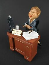 Lady Boss with Desk Funny Occupation Figurine Profession 5 1/2in New