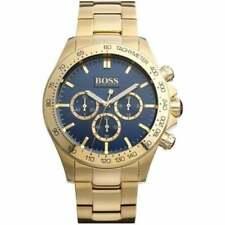 Reloj cronógrafo nuevo HUGO BOSS HB1513340 Ikon azul y oro genuino para hombre