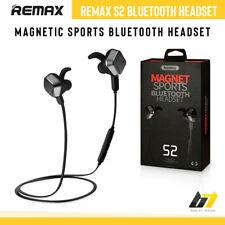 Genuine Remax S2 Wireless TWS Bluetooth Handsfree Magnetic Headset Sports Black