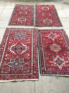 antico-swiss  4 Beautiful Antique indoKARAJA rugs 2`4x4`2 and 2`6x4` and 2`3x4`