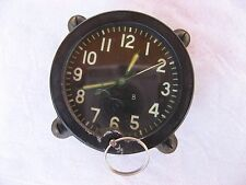 127 ChS Military Tank and Aviation COCKPIT CLOCK USSR vintage, Original.1943