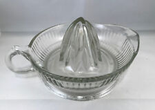 Vintage Orange Juice Reamer Clear Crystal Glass