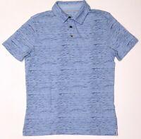 New Men's Banana Republic Blue Striped Vintage 100% Cotton Polo Tee NWOT Size M