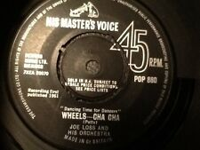 "JOE LOSS AND HIS ORCHESTRA . WHEELS - CHA CHA . 1961 Original 7"" vinyl classic"
