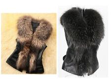 UK Faux Fur Sleeveless Vest Waistcoat Jacket Gilet Shrug Coat Outwear Scarf