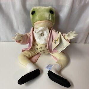 "VINTAGE 1989 Eden Jeremy Fisher Frog Beatrix Potter Plush Stuffed Animal 13"""