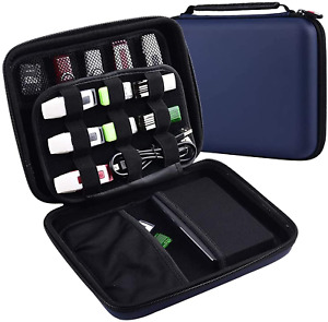 USB Flash Drive Storage Case Holder Carrying Wallet Bag Travel Organizer Blue