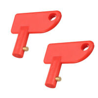 2* Spare Key for Battery Isolator Switch Power Kill Cut Off Switch Car Van Boats