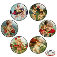 "Cupid 1.25"" Pinback Button BADGE SET #2 Novelty Pins Valentine Love Heart Gift"