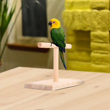 New listing Table Bird Perch Cage Parrot Training Lovebirds T Stand with Base Branch Toy