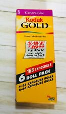 6 Rolls Kodak Gold 200 Camera Film 35mm Exposure Sealed in Package Exp 2002 New
