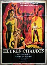 HEURES CHAUDES Affiche Cinéma / Movie Poster 160x120 Louis Felix