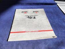 Allis Charmers Gleaner A & C Combine Brochure