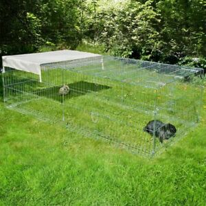Pet Metal Run For Rabbits Guinea Pigs With Escape Barrier 200 x 100 x 60 cm New