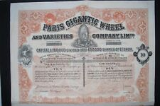 Paris Gigantic Wheel and Varieties Company 1899