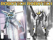 Robotech #1 Madness Games & Comics Exlusive Covers Pair LTD to 500! Titan 2017