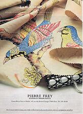 PUBLICITE ADVERTISING 084 1979 PIERRE FREY étoffes et papiers peints