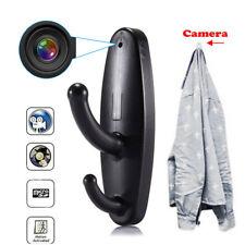 Black Clothes Hook Mini HD Spy Hidden Camera DVR Nanny Security Detection Video