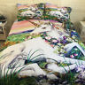 Unicorn Quilt Doona Duvet Cover Set Single Double Queen King Size Bed Pillowcase