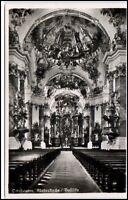 Ottobeuren Bayern Ansichtskarte ~ 1950/60 Innenansicht Klosterkirche Basilika