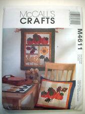 Thanksgiving Fall Harvest quilt decor pattern 4611 Pumpkins leaf Sunflower UNCUT