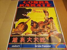 COBRA KARATE  ! affiche cinema kung-fu karate 1977