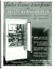 Publicité ancienne frigo -planche 1939 Poyet issue de magazine