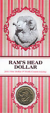 2011 Australia Ram's Head $1 Coin - Perth 'P' Counterstamp