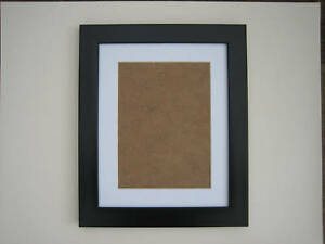 Black  8x10 Photo Picture Frame  Mount 5.5X7.5 Hang