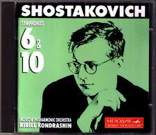 Kirill KONDRASHIN: SHOSTAKOVICH Symphony No.6 & 10 Sinfonien Schostakowitsch CD